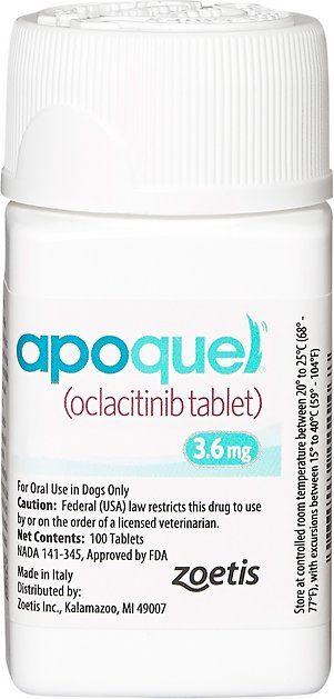 Apoquel Tablets For Dogs 3 6 Mg 1 Tablet Chewy Com Oral Tablets Apoquel Allergy Medication