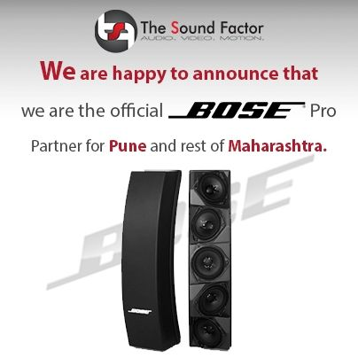 We are happy to announce we are the official Bose pro partner for Pune and rest of Maharashtra. For enquiry please call on – 9325781888 | 020 32502300.
