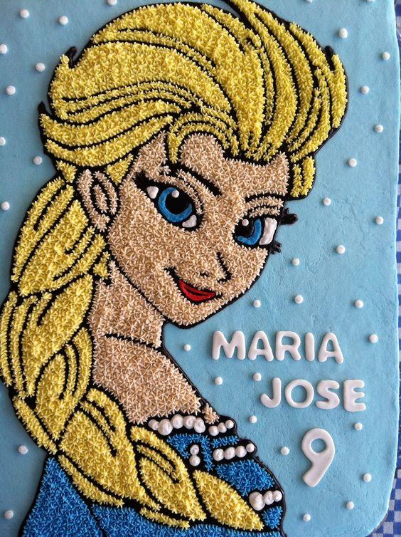 Elsa / Frozen cake: