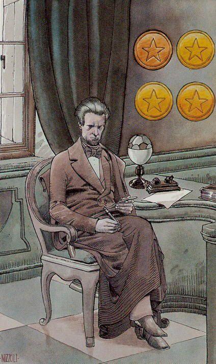 Four of Coins - Secret Tarot, Marco Nizzoli