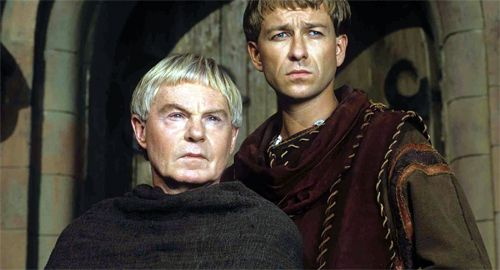 Derek Jacobi & Sean Pertwee as Cadfael & Hugh Beringar