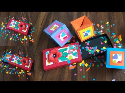 298 Pop Up Cube Jumping Cube Box Gift Idea Diy Greeting Card Paper Craft Youtube Paper Crafts Cards Greeting Cards Diy Paper Crafts
