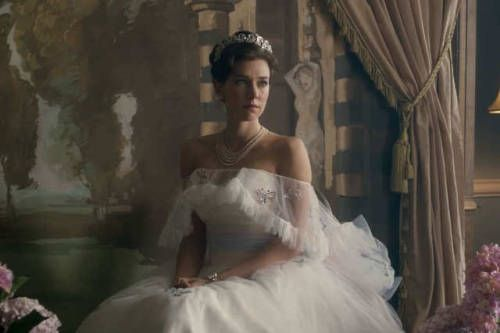 Princess Margaret Vanessa Kirby Butterfly Gown The Crown 2016