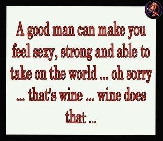 it's the wine