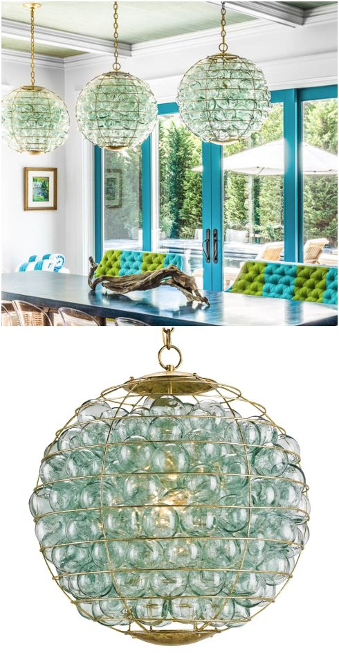 Coastal Lamps Inspired By Fishing Glass Floats In 2020 Gothic Home Decor Glass Floats Beach House Lighting