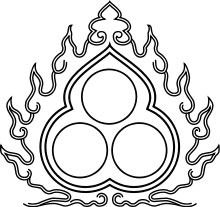 The circles are the jewel(s) or pearl(s). The number of 3 jewels is Buddhist tradition (triratna). Beshir Cloudband - Turkotek Discussion Forums
