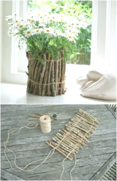 25 Cheap And Easy Diy Home And Garden Projects Using Sticks And Twigs Home Decor Design Cheap Diy Crafts Easy Diy Mother S Day Gifts Easy Diy