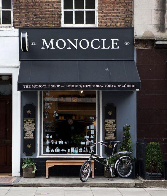 "ysvoice: "" | ♕ | The Monocle Shop, London | via theblackworkshop | basketbike """
