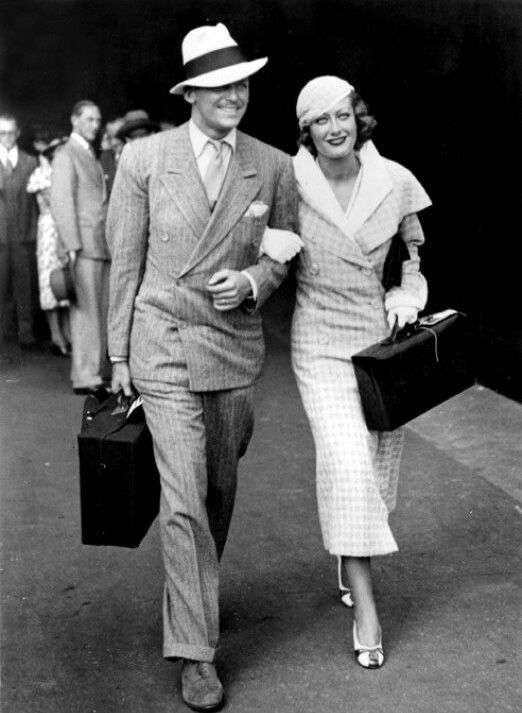 Douglas Fairbanks Jr With Wife Joan Crawford 1929 20er Jahre