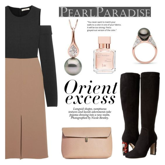 """""""Frost collection"""" by pearlparadise ❤ liked on Polyvore featuring TIBI, Dolce&Gabbana, Boohoo, Nicole and Maison Francis Kurkdjian"""