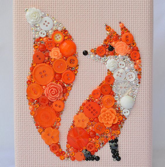 Title: Foxy Lady This piece has been created on a sturdy 5x7 wooden frame…