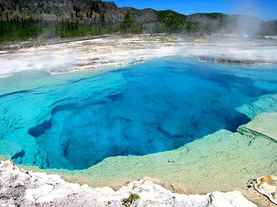 Blue, Blue Sapphire Pool, Biscuit Basin, Yellowstone National Park by moonjazz