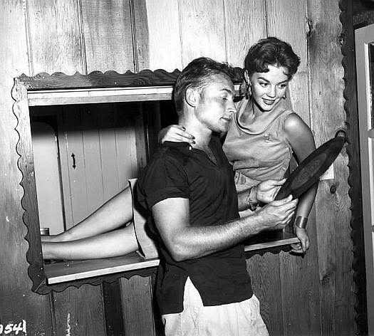 Natalie with actor Nick Adams.
