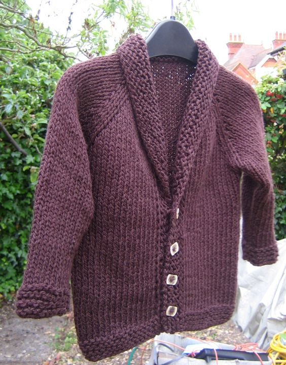 Cardigan for my Tiddler. Knitted in Debbie Bliss Cotton ...