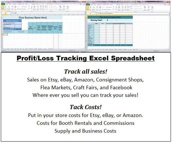 Excel Business Profit and Loss Statement Spreadsheets Cash Flow - business profit loss statement