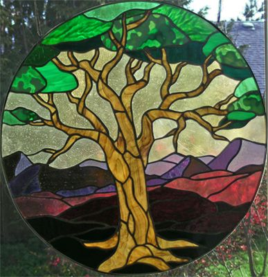 frank lloyd wright stained glass tree of life mosaic ...