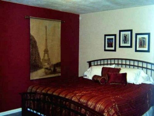 Burgundy Bedroom Walls Interior Home And Rooms