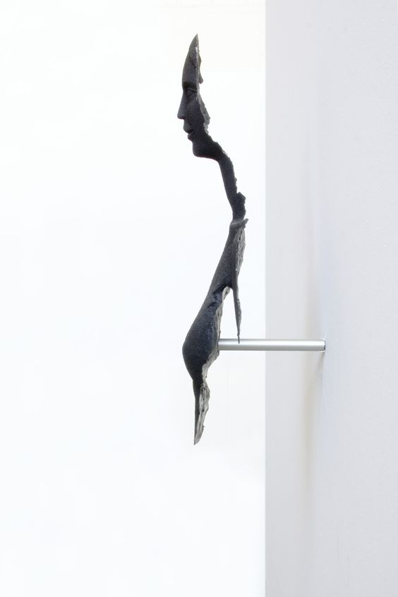 Black Woman Fragment by Damian Fennell, 2005. Crystacal superhard plaster, aluminium and pigment.