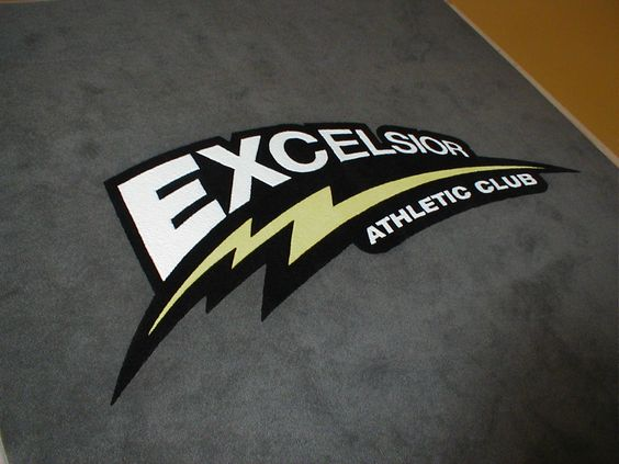 Excelsior Athletic Club Logo Carpet Entry Logo Rug Athletic