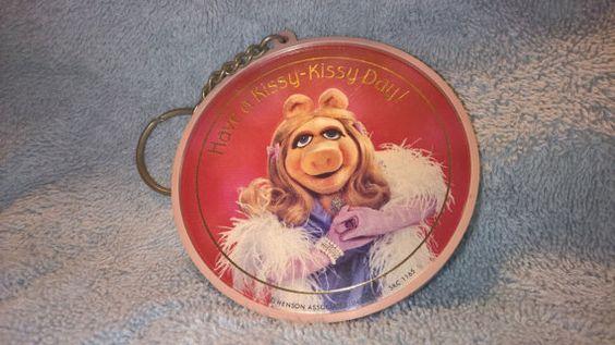 1981 Miss Piggy Key Chain by RobandJensOddsnEnds on Etsy
