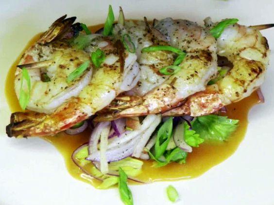 Sauteed Shrimp, Spicy BBQ, Apple Slaw Recipe : Robert Irvine : Food Network - FoodNetwork.com