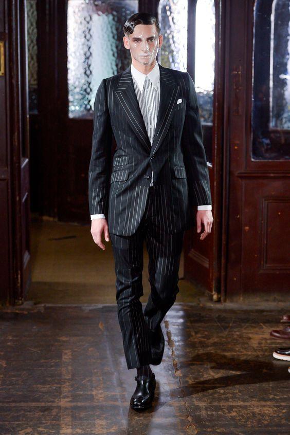 Alexander McQueen - Fall 2013 Menswear - Look 4 of 28