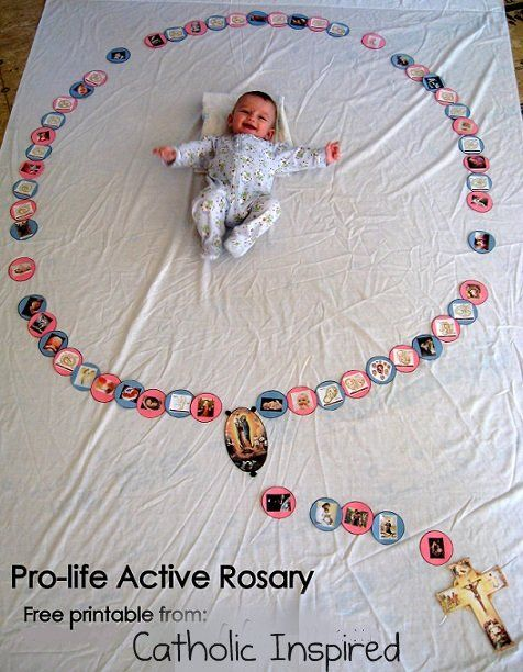 Pro-Life Active Rosary ~ A craft, activity and prayer | Catholic Inspired ~ Arts, Crafts, and Activities!