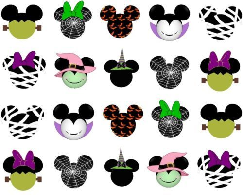 20-Halloween-Mummy-Witch-Mickey-Head-Disney-3-Nail-Art-Waterslide-decal-sticker