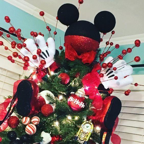 Arbol De Navidad Decorado De Mickey Mouse