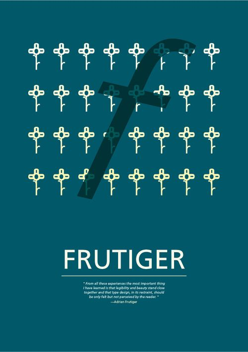 Study - Typography - Frutiger - Poster #1