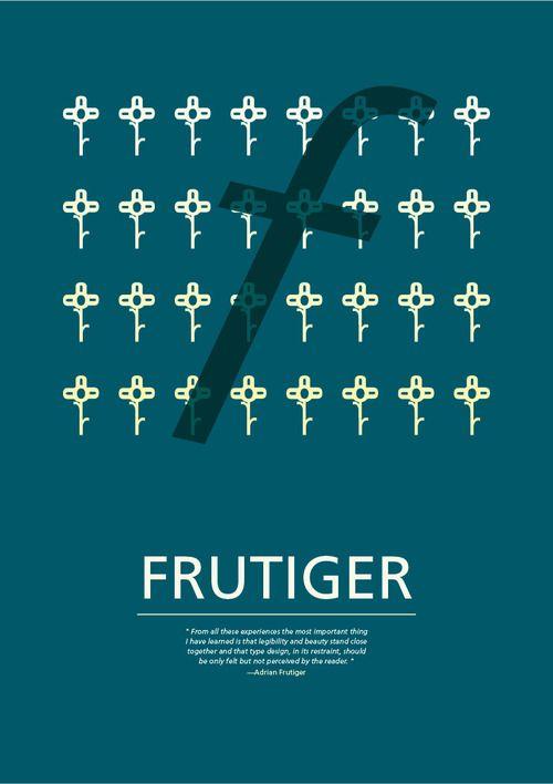 Study - Typography - Frutiger - Poster #1