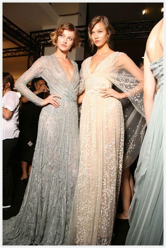 Silver Wedding Dress Inspo
