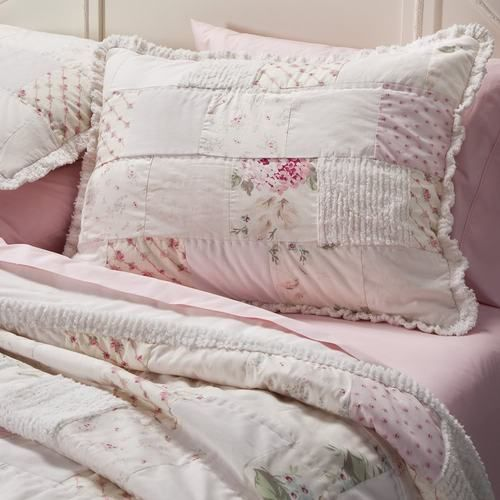 Shabby Chic Pink Pillow Shams : Rachel Ashwell Simply Shabby Chic Chenille Pink Hydrangea Patchwork Quilt Sham Quilt, Shabby ...