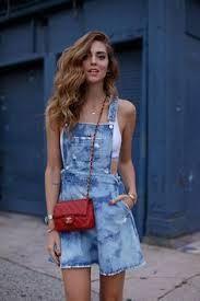 Resultado de imagem para jardineiras jeans overall