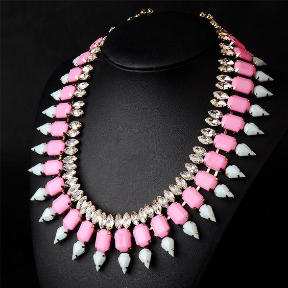 N00178 2014 necklaces & pendants fashion vintage Unique Multi layer pendant big choker Necklace statement jewelry women $13.88
