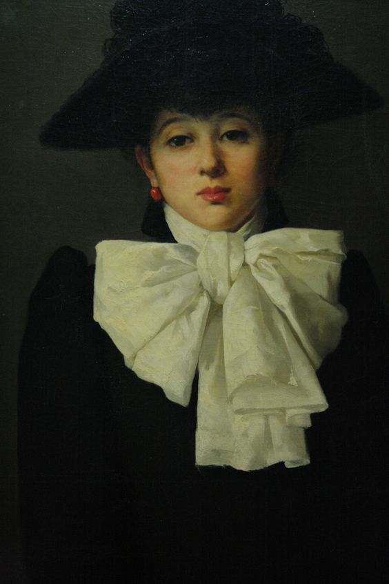 Anna Bilińska, Portret młodej kobiety z różą (Portrait of Young Woman with a rose)