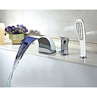 Modern Multi-color LED Widespread Waterfall Tubfaucet with Hand Shower. Get sizzling discounts up to 70% at Light in the box using Coupon and Promo Codes.