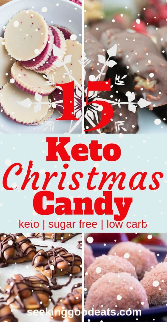 These 15 Keto Christmas recipes are the best low carb and keto candy! These sugar free candy recipes are tasty keto fat bombs and low carb desserts. You'll never know you're on a diet. Cure those sugar cravings with these delicious ketogenic holiday recipes. #keto #christmascandy #holiday #lowcarb #lchf #sugarfree #ketorecipes #christmasrecipes