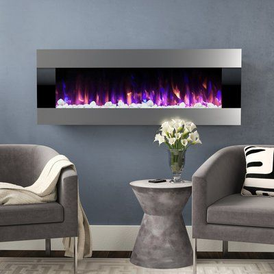 Quesinberry Wall Mounted Electric Fireplace Wall Mounted