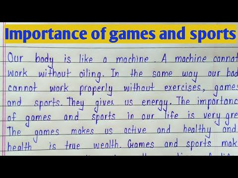 Essay on importance of sports and games cause and effect of water pollution essay