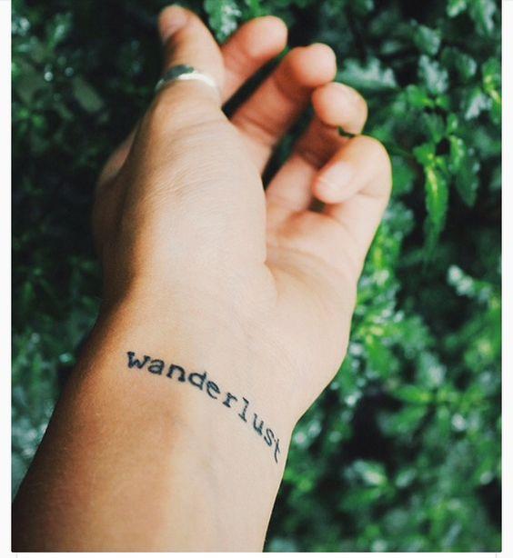Wonderlust Tiny Tattoo