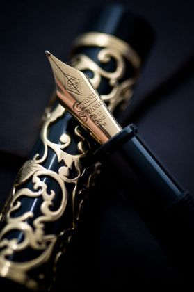 henry simpole gold overlay fountain pen
