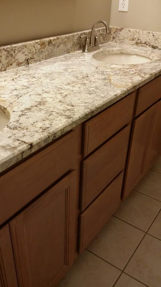 White springs granite from knoxville 39 s stone interiors for for Bath remodel knoxville tn