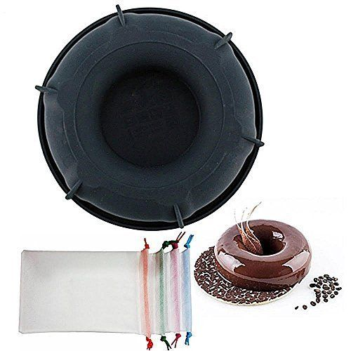 Wewin Black Silicone Doughnut 3d Cake Mold For Mousse Fondant