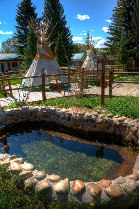 Saratoga Hot Springs Wyoming - Love the Saratoga Inn. Mineral pools in each teepee. Great spa and lodging. While in Saratoga, have dinner at the Wolff Hotel. Had a fantastic king crab dinner and bottle of Cakebread chardonnay for a very reasonable price.