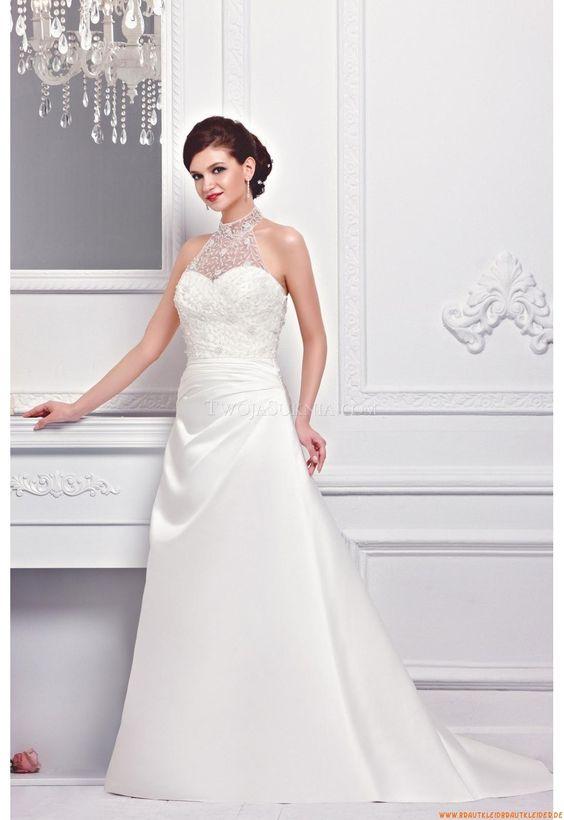 Herz-neck A-linie Bodenlang Preiswerte Schlichte Brautkleider