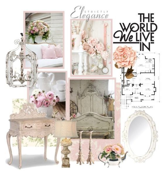 """Shabby Chic Mood Board"" by youaresofashion ❤ liked on Polyvore featuring interior, interiors, interior design, home, home decor, interior decorating, Belle Vie, Craftsman, Shabby Chic and INC International Concepts"