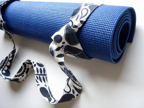 Yoga Mat Strap Swirl Handmade by BabiminiS on Etsy