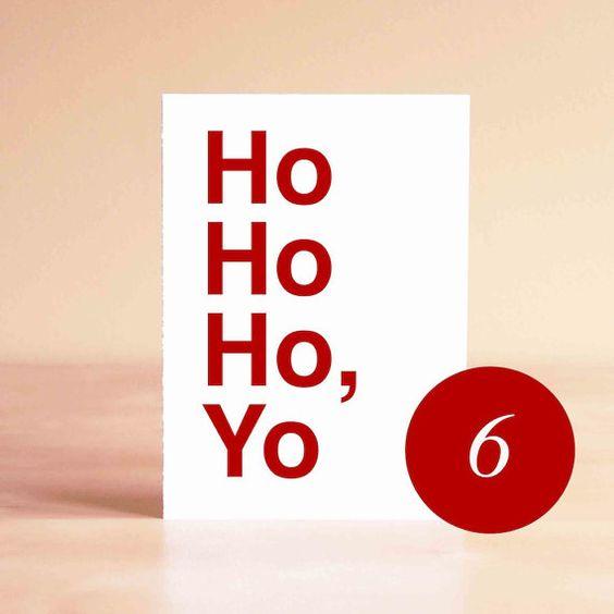 Funny Christmas Card Set Unique Christmas Card Set by sadshop