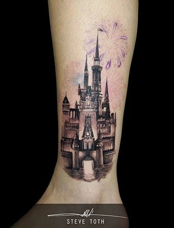 disney castle tattoo d s i pinterest disney disney schloss tattoo und burg tattoo. Black Bedroom Furniture Sets. Home Design Ideas